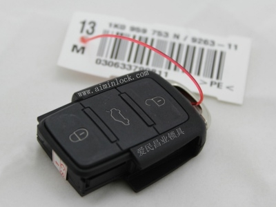 原厂大众753n 3键遥控器